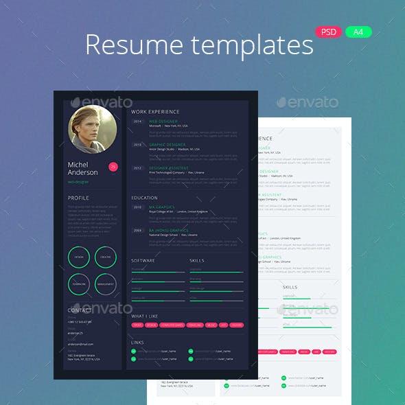 Web-Design Style Resume / CV