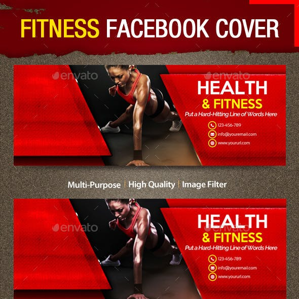 Health & Fitness Facebook Cover | Volume 09