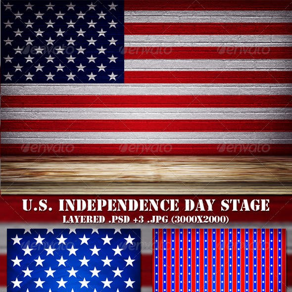 USA Independence Day Stage