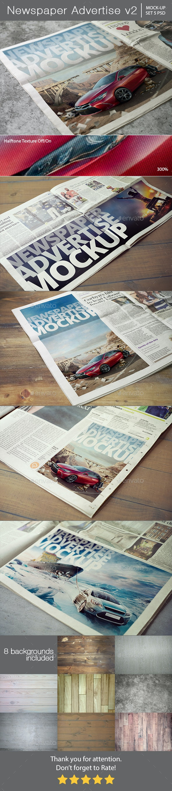 Newspaper Advertise Mockup v2 - Miscellaneous Print
