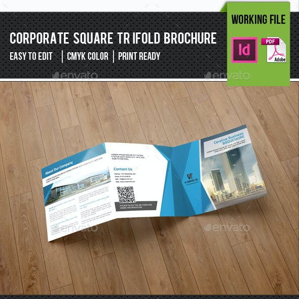 Square Trifold Corporate Brochure-v77