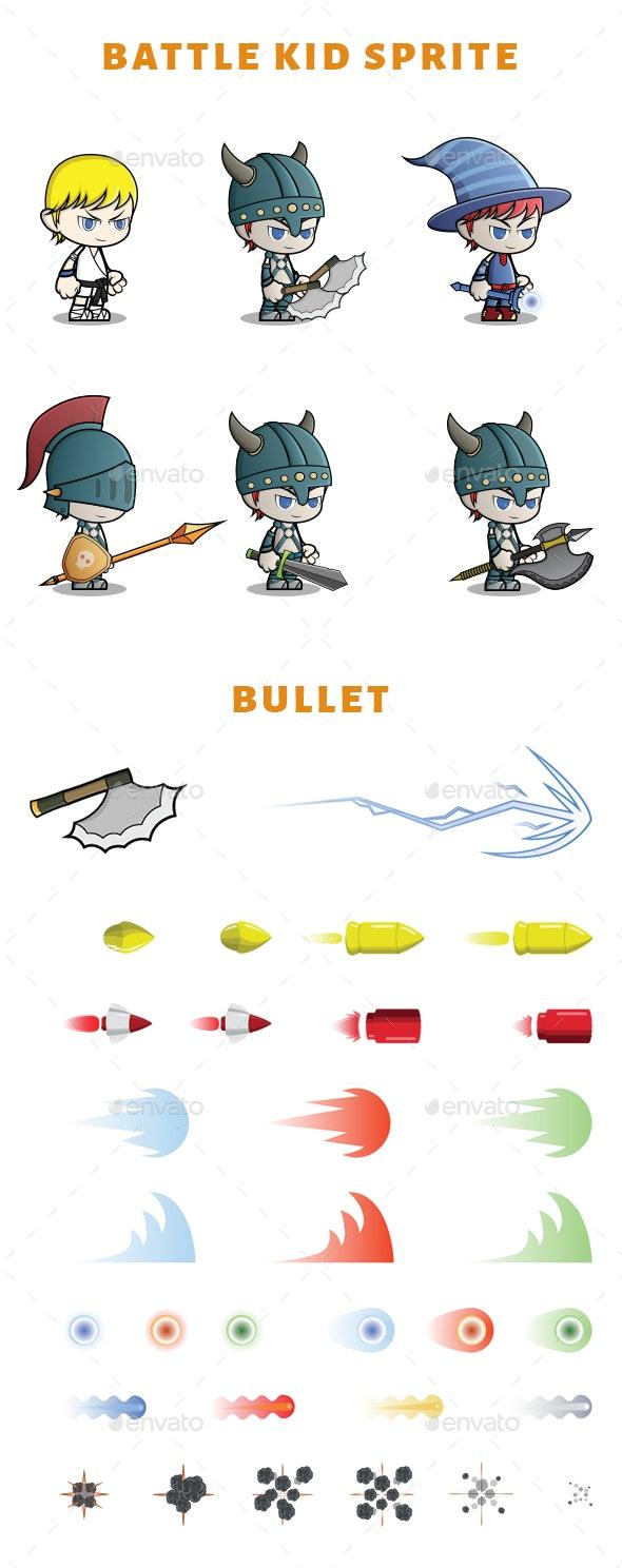 Boy Battle Kid Sprite - Sprites Game Assets