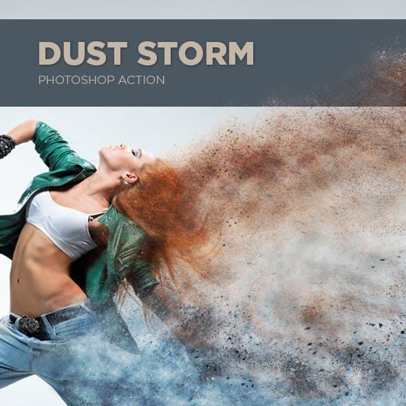 Dust Storm Photoshop Action