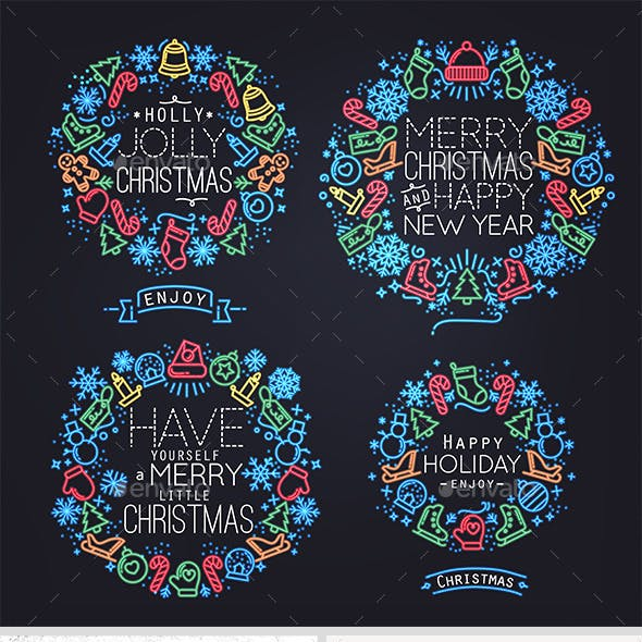 Christmas Flat Symbols