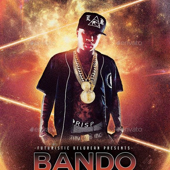 Bando   Futuristic Modern Movie Flyer PSD Template