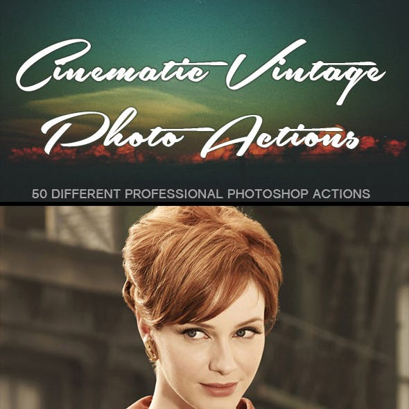 50 Cinematic Vintage Photo Actions