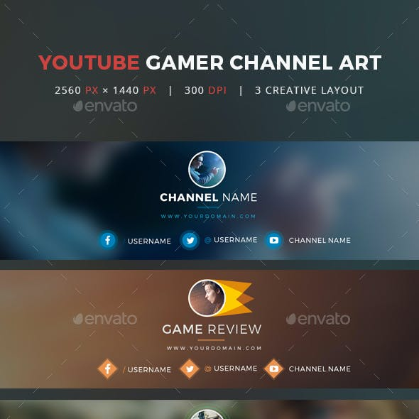 Youtube Gamer Channel Art