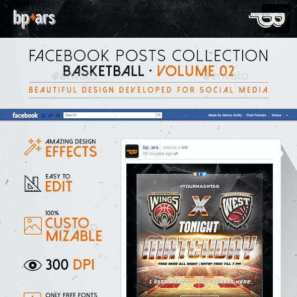 7 Facebook Banners | Basketball vol II