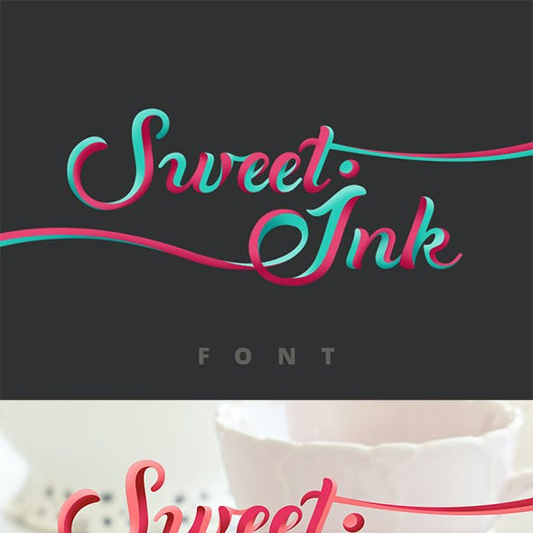 Sweet Ink Calligraphy Font Elegant Lettering