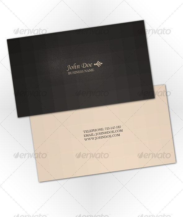 Vintage Professional Business Card - Corporate Business Cards