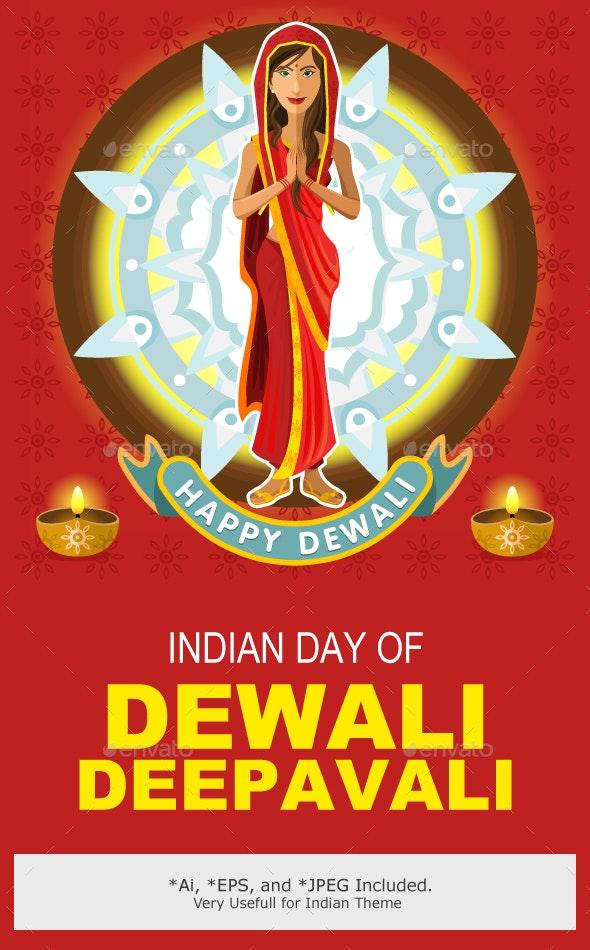India Dewali Deepavali Celebration - Religion Conceptual