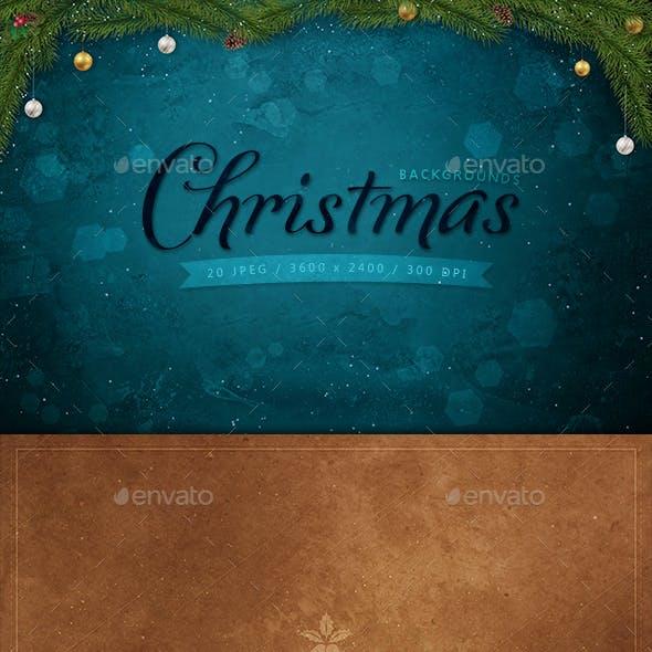 20 Christmas Backgrounds