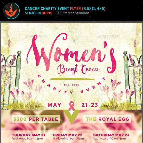 Breast Cancer Charity Event Flyer Template