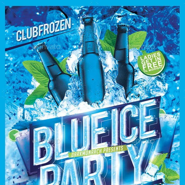 Blue Ice Party Flyer