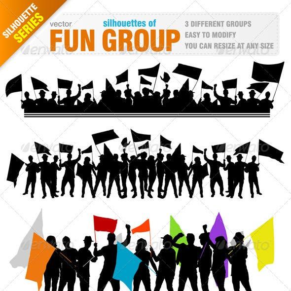 Fun Group Silhouettes