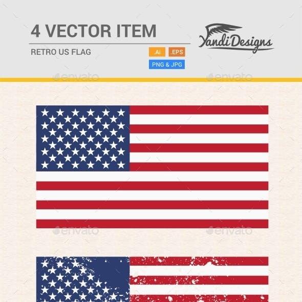 Retro US Flag