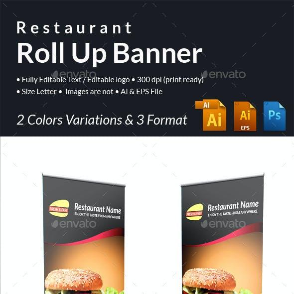 Restaurant Roll up Banner