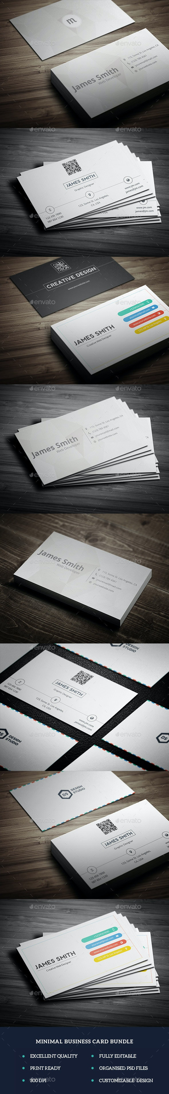 Minimal Business Card Bundle - Corporate Business Cards