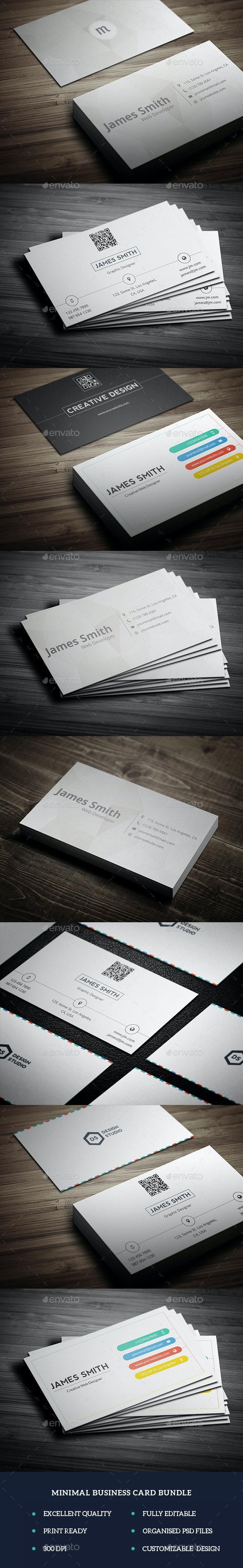 Minimal Business Card Bundle - Corporate Business Cards