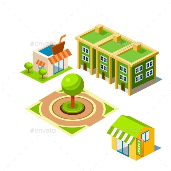 House And Park Building Icon