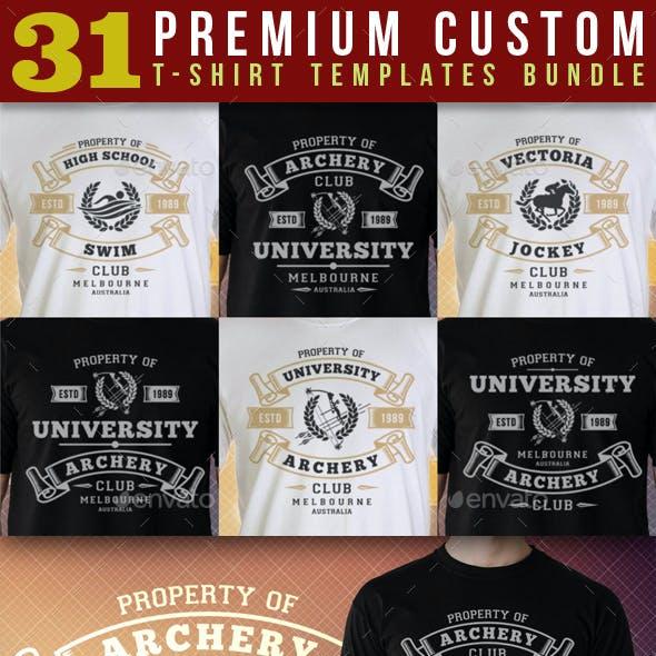 Premium T-Shirt Templates Bundle v2