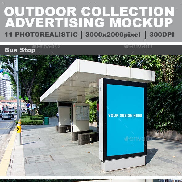 11 Outdoor Photorealistic Mockup