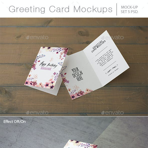 Invitation & Greeting Card Mockups