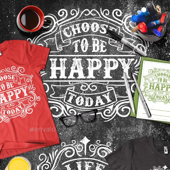 3 Modern Typography T-shirt