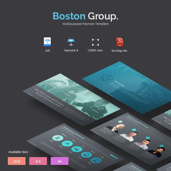 Boston - Creative Keynote Template
