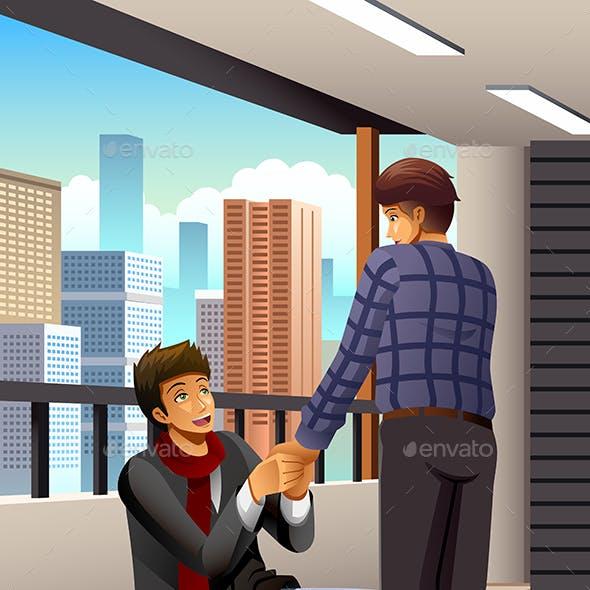 Gay Man Proposing to His Boyfriend