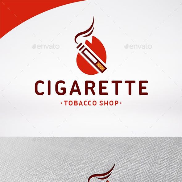 Cigarette Logo Template