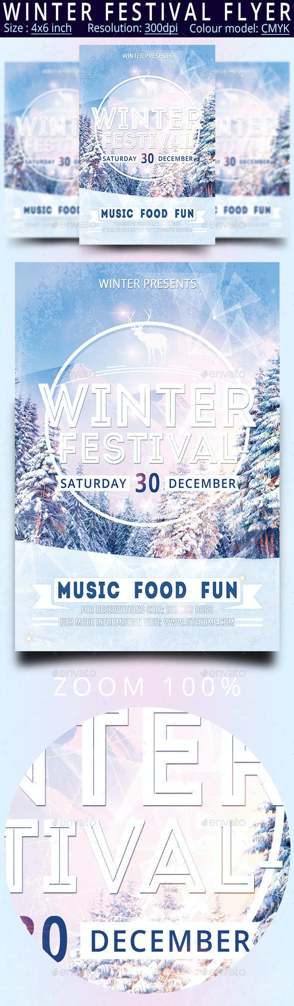 Winter Festival - Events Flyers