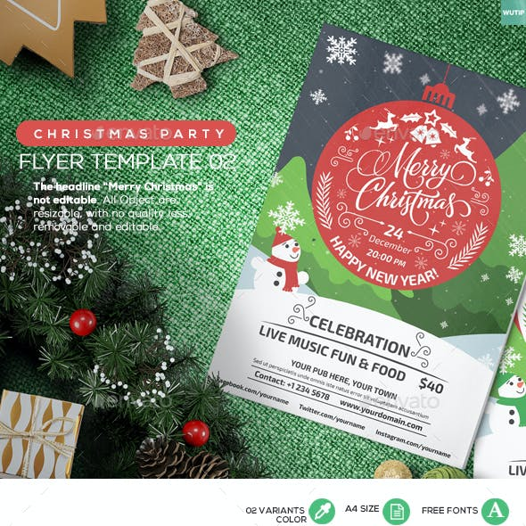 Christmas Party - Flyer Template 02