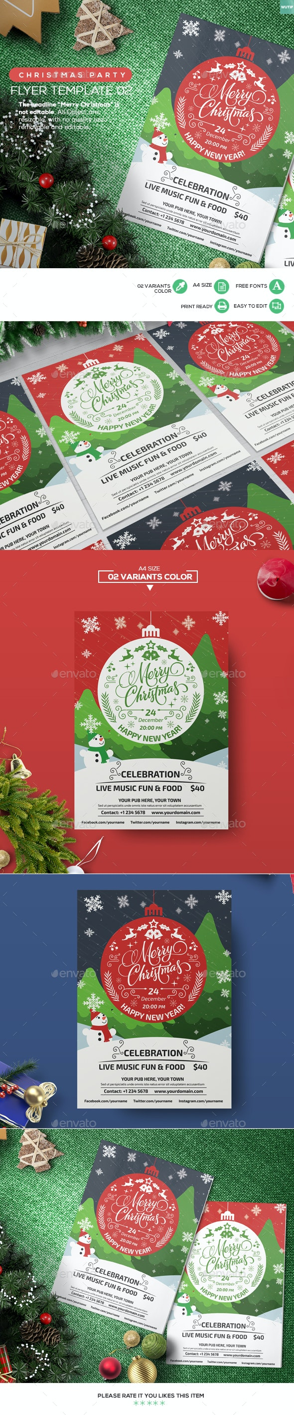 Christmas Party - Flyer Template 02 - Holidays Events