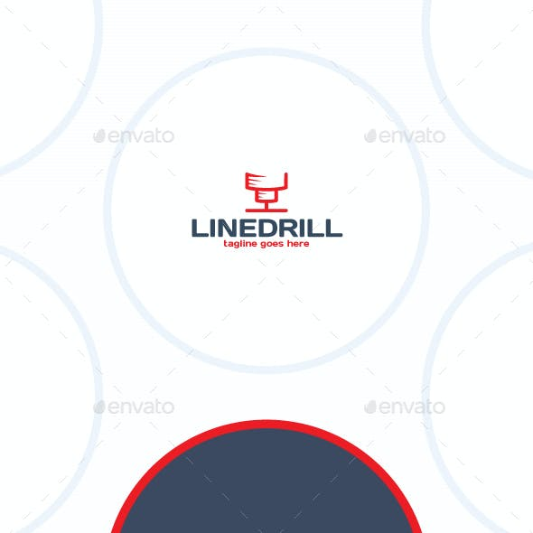 Line Drill Logo - Construction