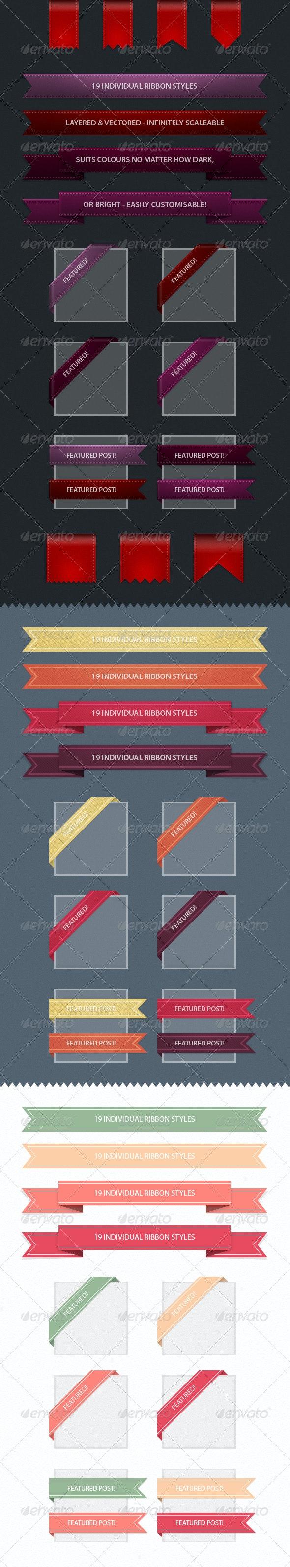 Web Ribbons - Web Elements