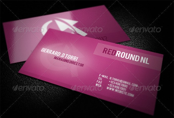 Clean Futured Business Card - Corporate Business Cards