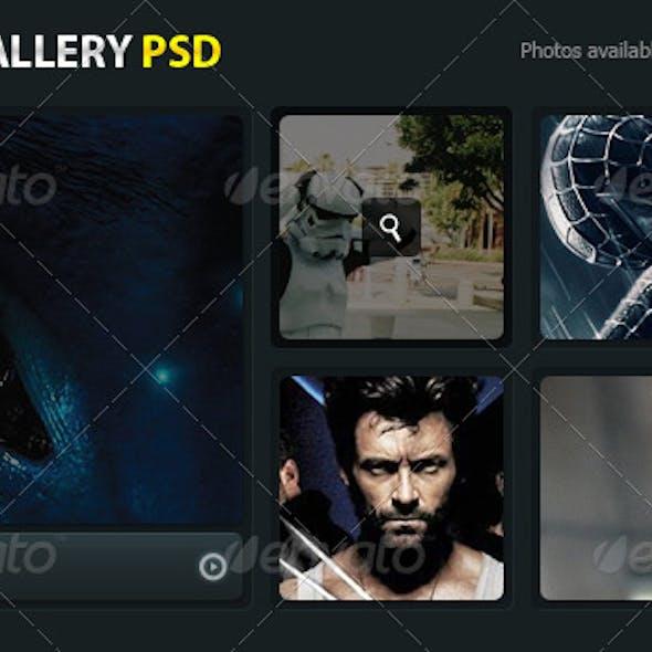 Modern Image Gallery PSD