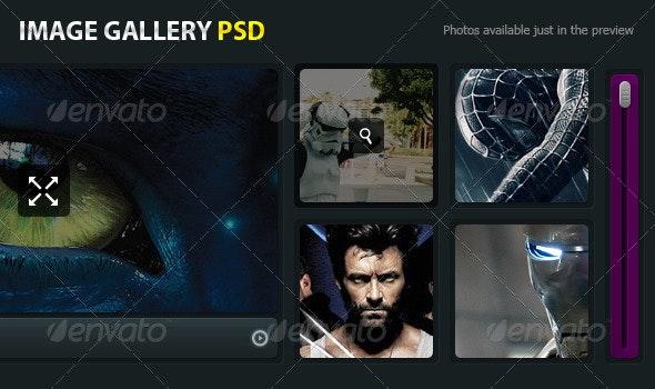 Modern Image Gallery PSD - Web Elements