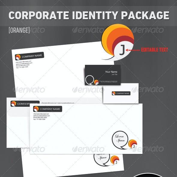 Corporate Identity Package [7 Set] - 'Orange'