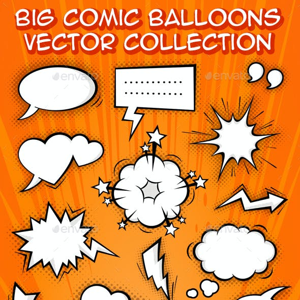 Comic Balloons and Effects Set