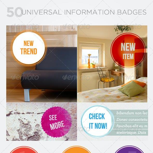 Universal Information Badges