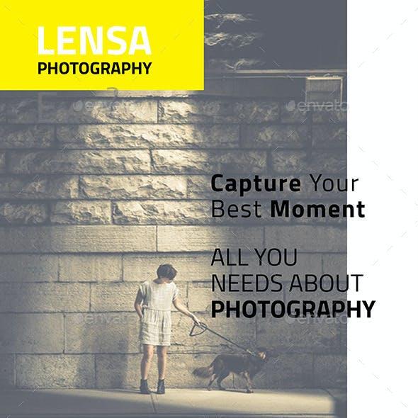 Lensa Photography - A4 Flyer