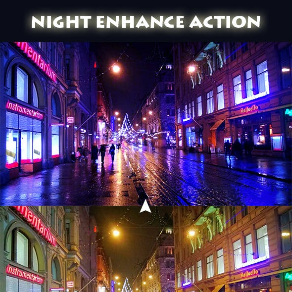 Night Enhance Photoshop Action