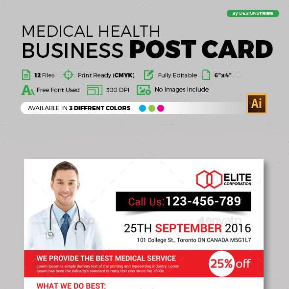 Medical Post Card Design Template