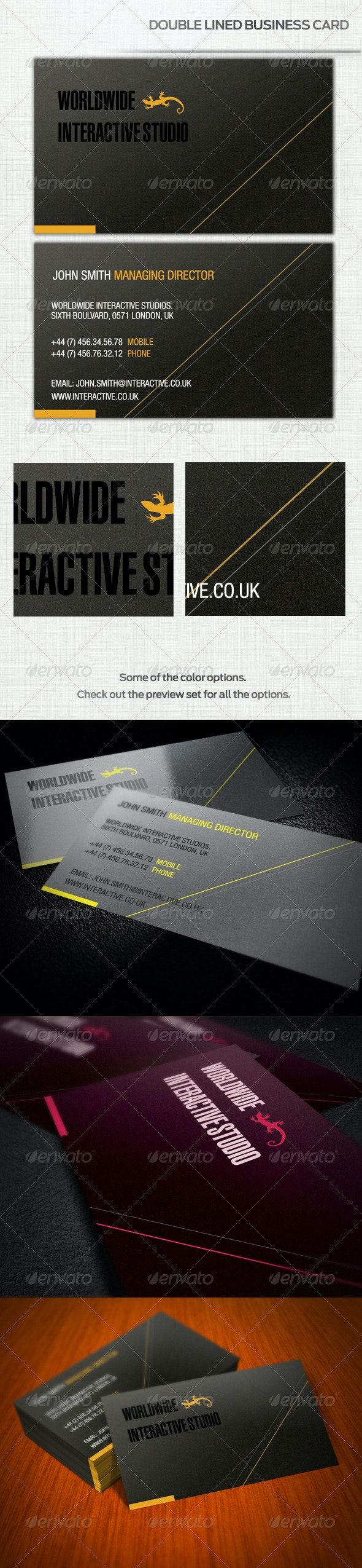 Double Lined Business Card [4 Colors] - Corporate Business Cards