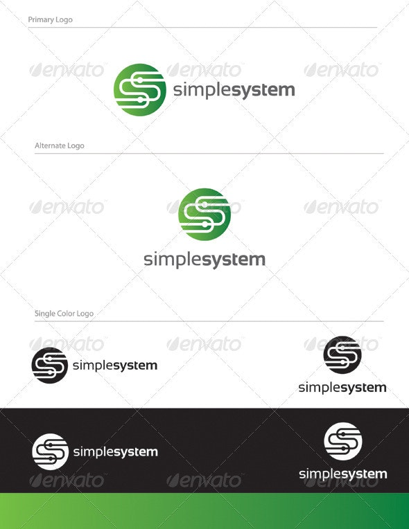 Simple System Logo Design - LET-004 - Letters Logo Templates