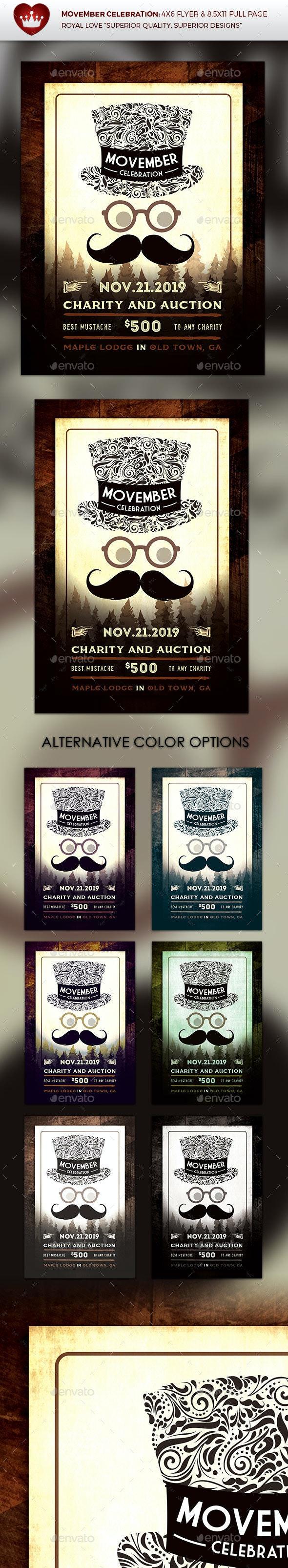 Movember Celebration Flyer - Events Flyers