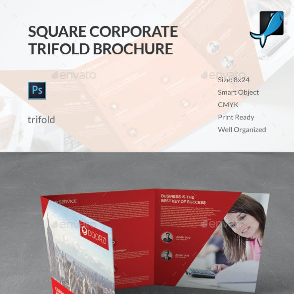 Square Corporate Trifold Brochure