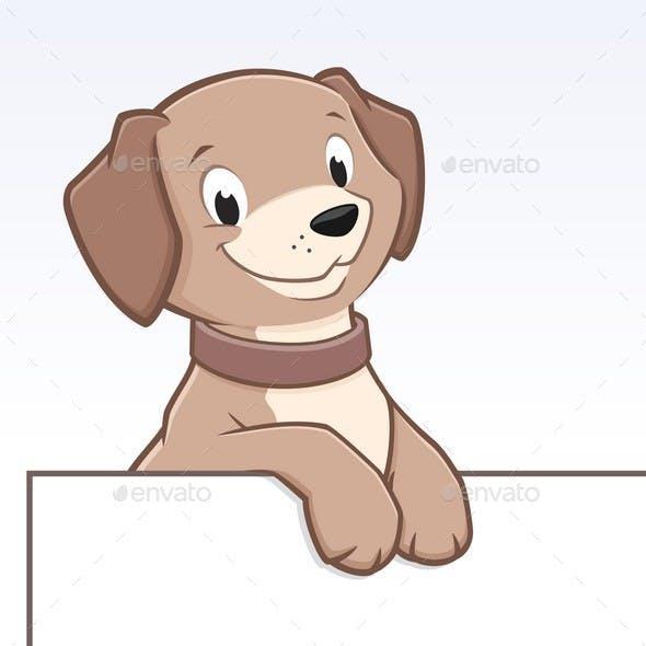 Cartoon Dog Animal Frame  Border
